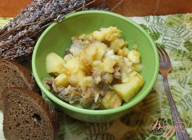 Рецепт Овощи тушеные с мясом на сале
