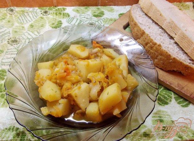 Рецепт Рассыпчатый картофель с томатом на свином сале