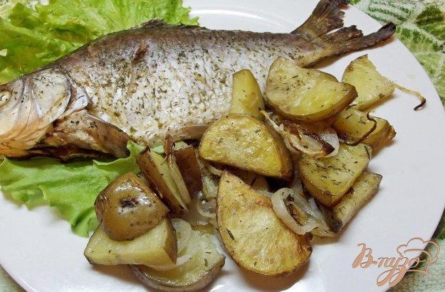 Рецепт Гарнир из печеного картофеля с заправкой
