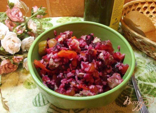 Рецепт Мясной салат с рисом