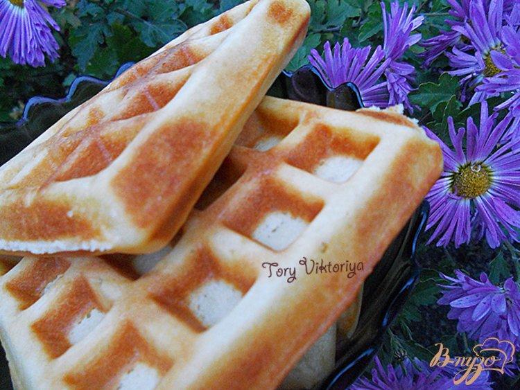 Фото приготовление рецепта: Бельгийские вафли шаг №4