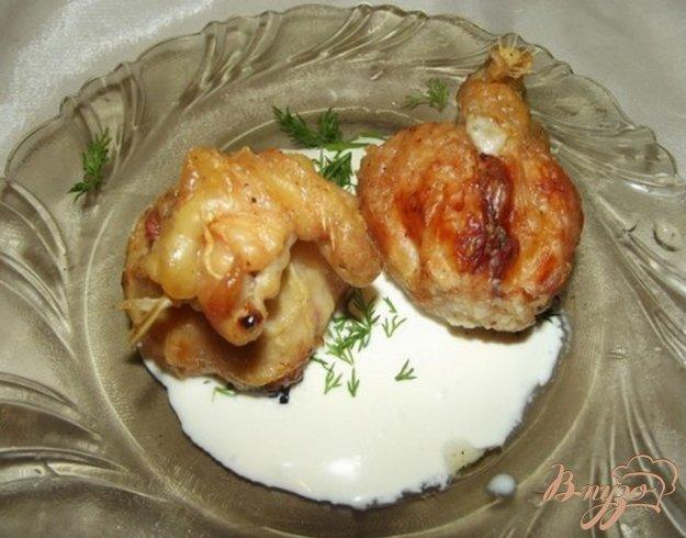 Рецепт Мешочки с курицей и яблоками