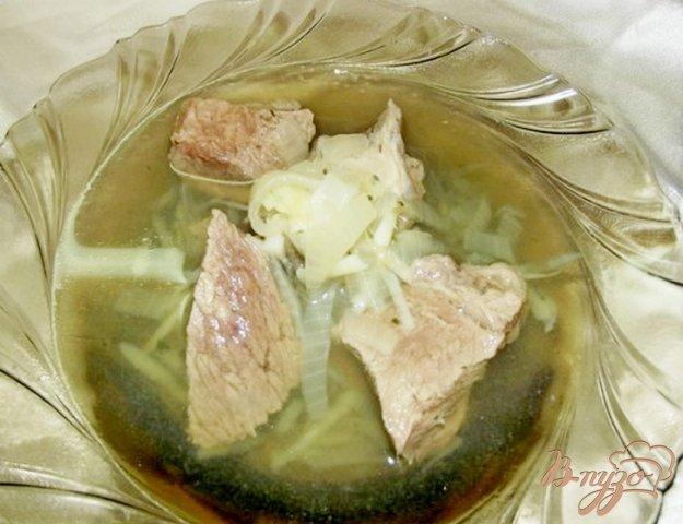 Рецепт Говядина с луковым бульоном