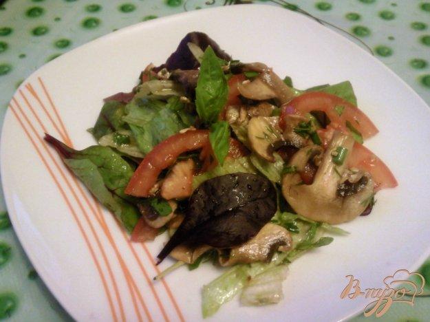 Рецепт Овощной салат с грибами
