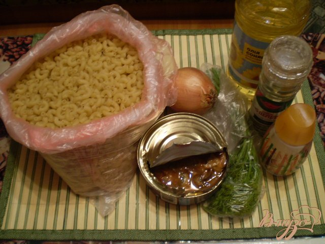 Фото приготовление рецепта: Макароны по-флотски с рыбой шаг №1