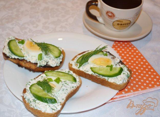 Рецепт Гренки с творожной массой и яцом.