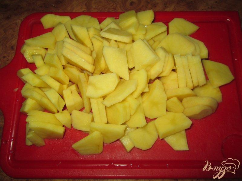Фото приготовление рецепта: Картошка тушеная с курицей шаг №5