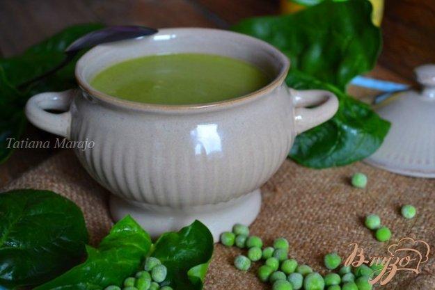 фото рецепта: Горохово-шпинатный суп с горчицей