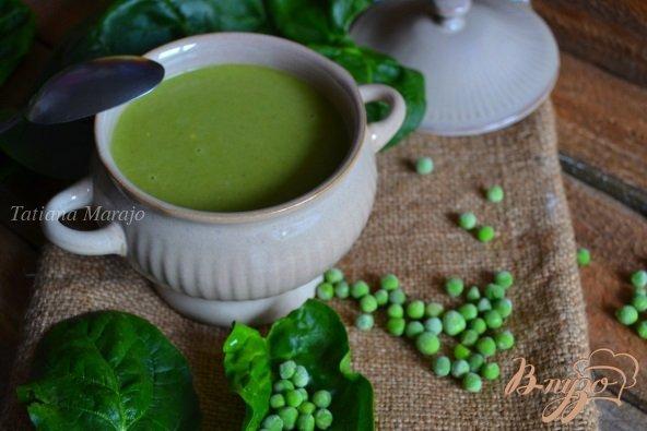 Фото приготовление рецепта: Горохово-шпинатный суп с горчицей шаг №5