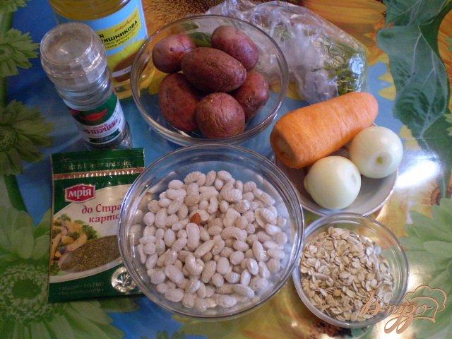 Фото приготовление рецепта: Овсяный суп с фасолью шаг №1