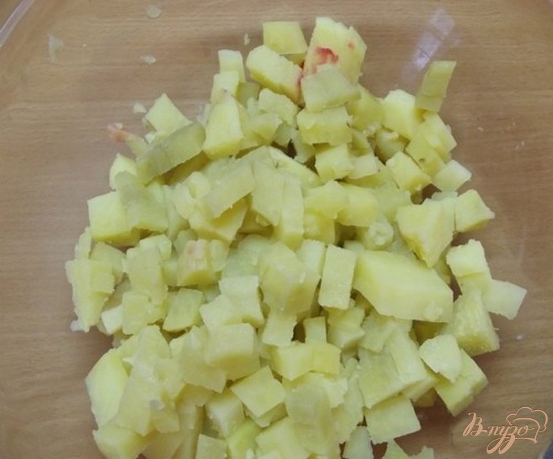 Фото приготовление рецепта: Салат овощной
