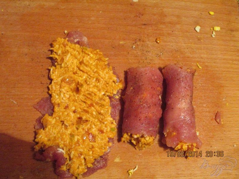 Фото приготовление рецепта: Мясные рулетики шаг №7