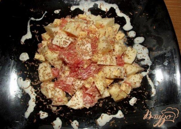 фото рецепта: Салат фруктовый с сыром