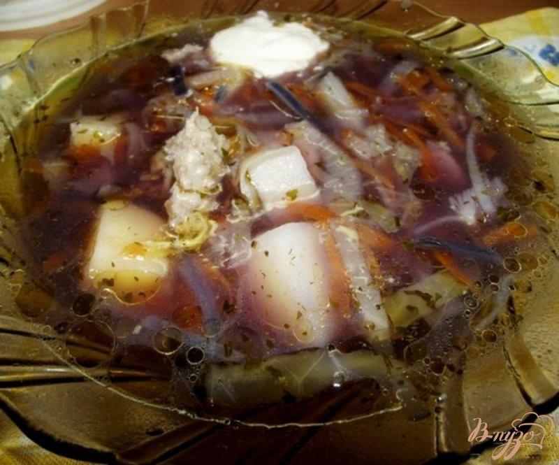 Фото приготовление рецепта: Суп из индюка с капустой шаг №7