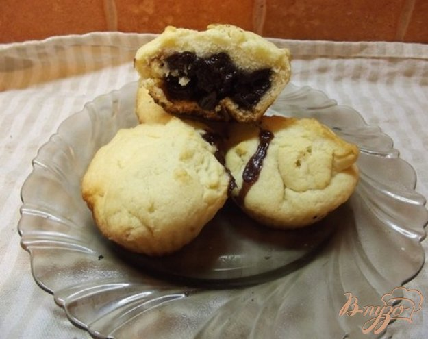 Рецепт Песочное печенье с вишневым вареньем