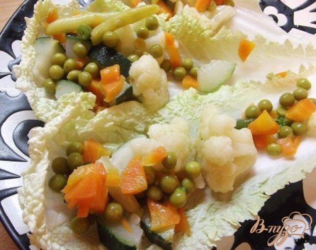 Рецепт Овощной салат с заправкой из соевого соуса
