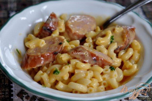 Рецепт Макароны с сыром и колбасой