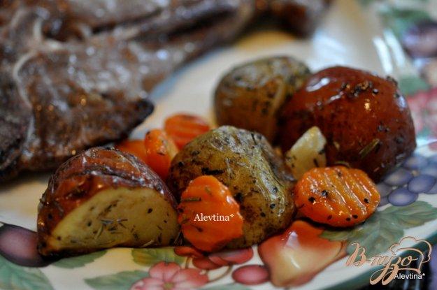 Рецепт Картофель с тимьяном и розмарином в пакете