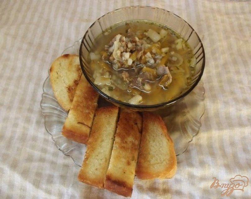Фото приготовление рецепта: Суп на сале и баранине с гречкой шаг №10