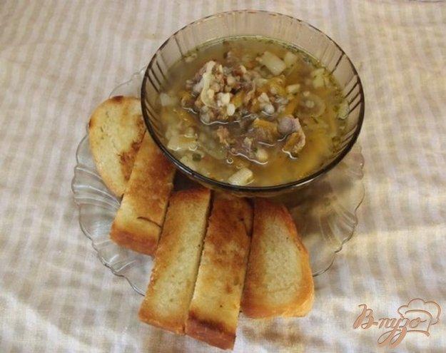 фото рецепта: Суп на сале и баранине с гречкой