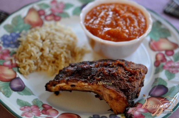 Рецепт Cвиные ребрышки с цитрусовым барбекю соусом