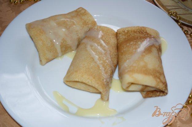 Рецепт Блины с заварным кремом и ананасом