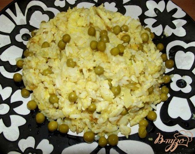 Рецепт Рисовый омлет с зеленым горошком