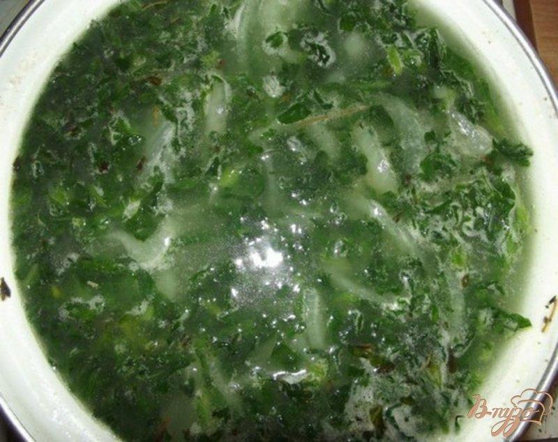 Фото приготовление рецепта: Суп рисовый со шпинатом шаг №8