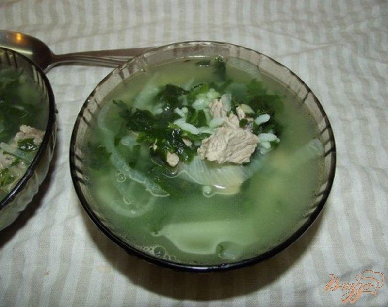 Фото приготовление рецепта: Суп рисовый со шпинатом шаг №9
