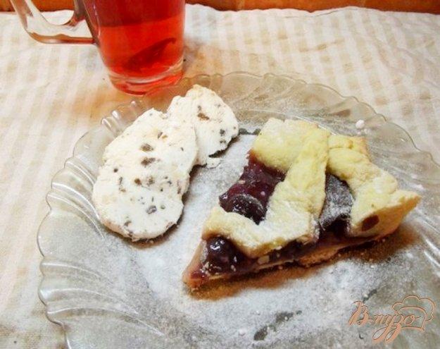 Рецепт Пирог с консервированными фруктами и мороженным