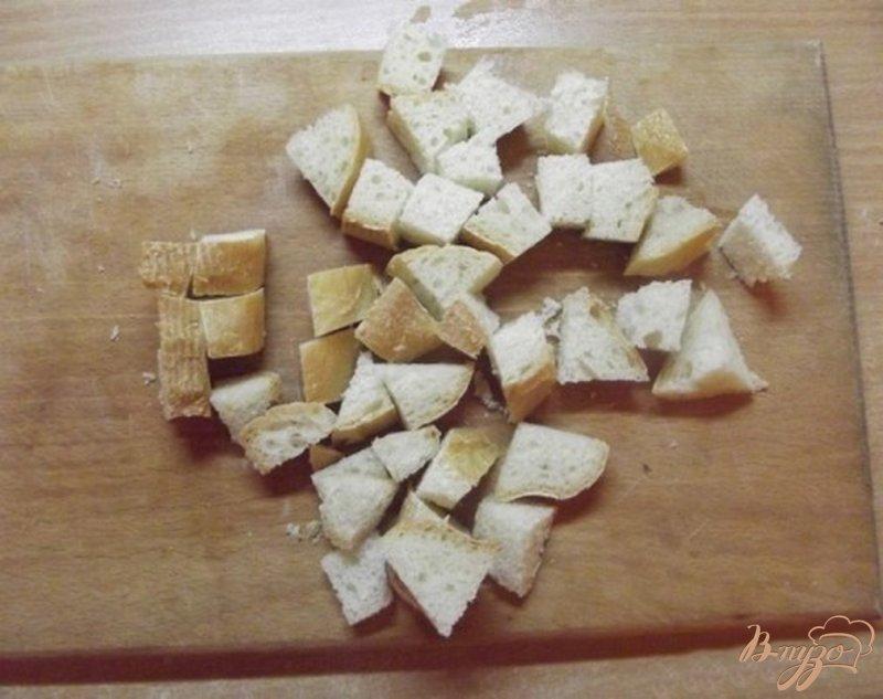 Фото приготовление рецепта: Крем-суп из брокколи с сухариками шаг №7