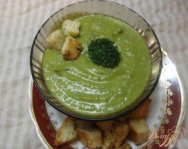 Крем-суп з брокколі з сухариками. Як приготувати з фото