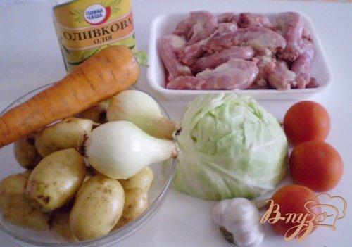 Куриные шейки с овощами