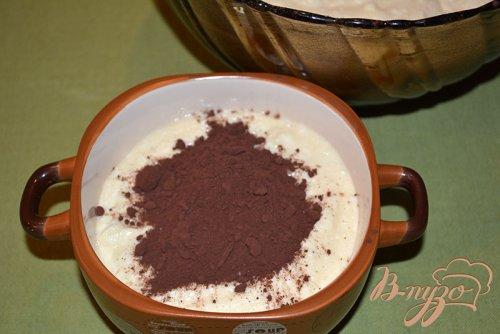 Творожно-шоколадная запепканка c вишневым вареньем