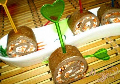 Печеночные рулетики с морковью по-корейски