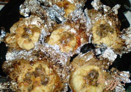 Мешочки мясные с грибами
