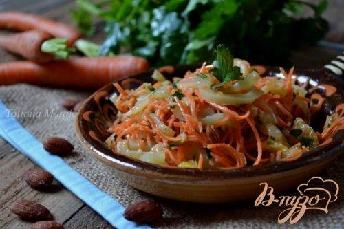 Морковный салат со сладким перцем и апельсином