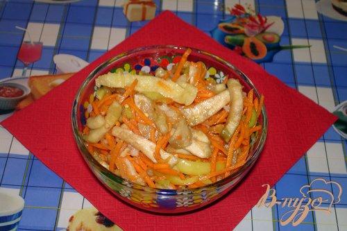 Острый салат из синенький и морковки
