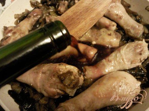 Кок*о вен (курица в вине)
