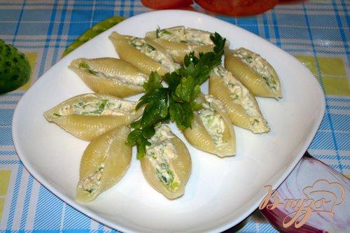 Макароны ракушки с голубым сыром