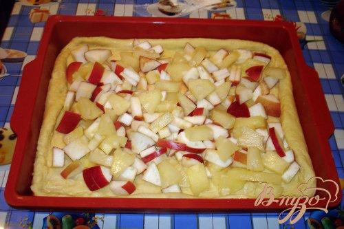 Закрытый яблочно-ананасовый пирог