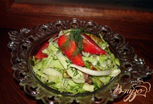 Салат с ветчиной и кунжутом
