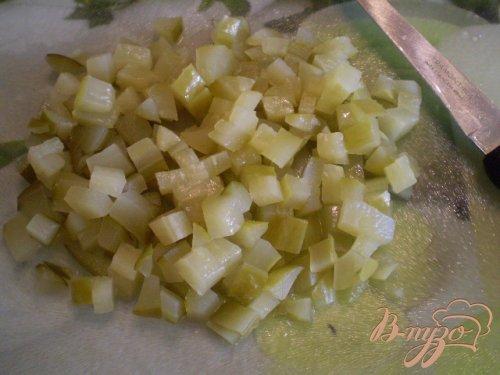 Винегрет с фасолью и горошком