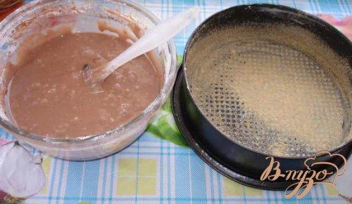 Сметанный торт с кофейно-масленным кремом и арахисом