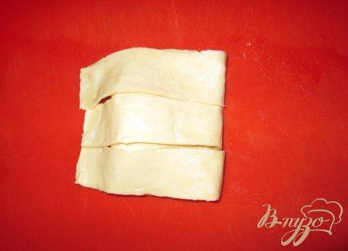 Пирожки с творогом из слоеного теста