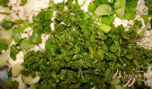 Салат из белокочанной капусты с курицей