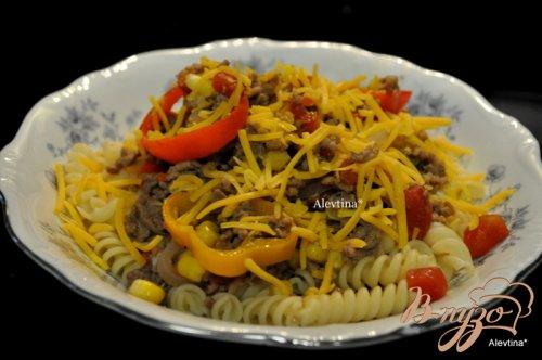Чили с макаронами и сыром