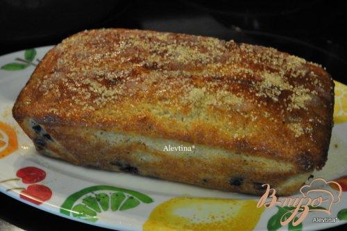 Кекс с голубикой и лимонным вкусом