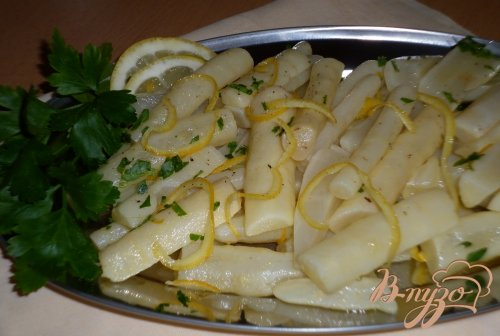 Скорцонера с лимонной цедрой