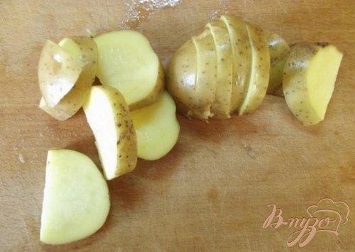 Гарнир из печеного картофеля с заправкой